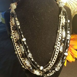Gorgeous black and silver necklace